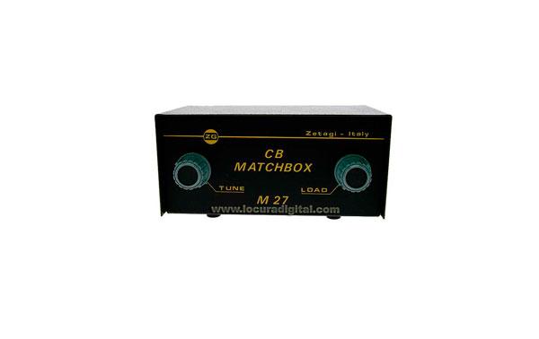 M27MATCHBOX ZETAGI acoplador de antena 26 - 28 Mhz.